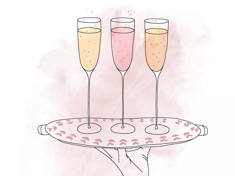 cups of champagnes