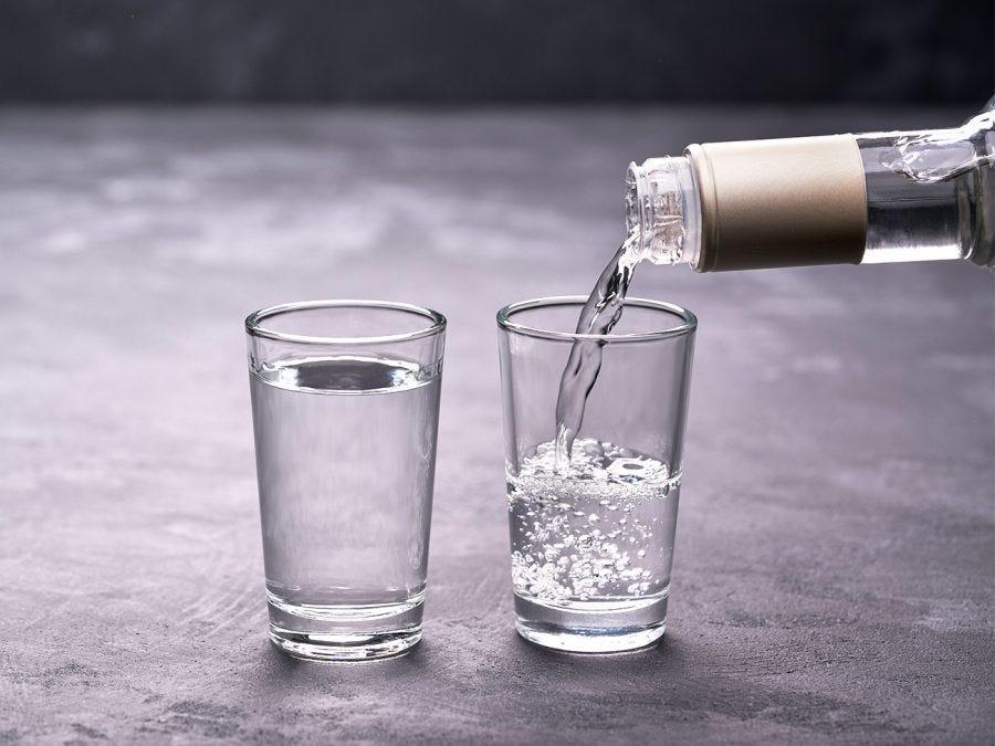 Un verre de Vodka