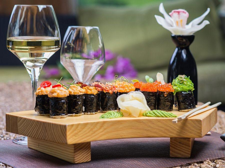 Le meilleur accord vins et sushis.
