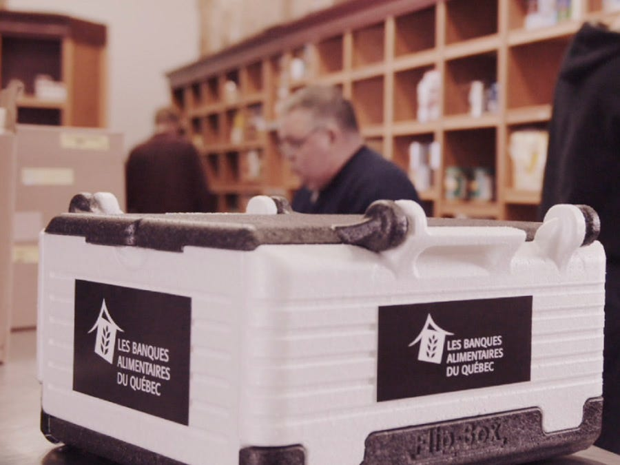 Donation of goods, Food banks Quebec