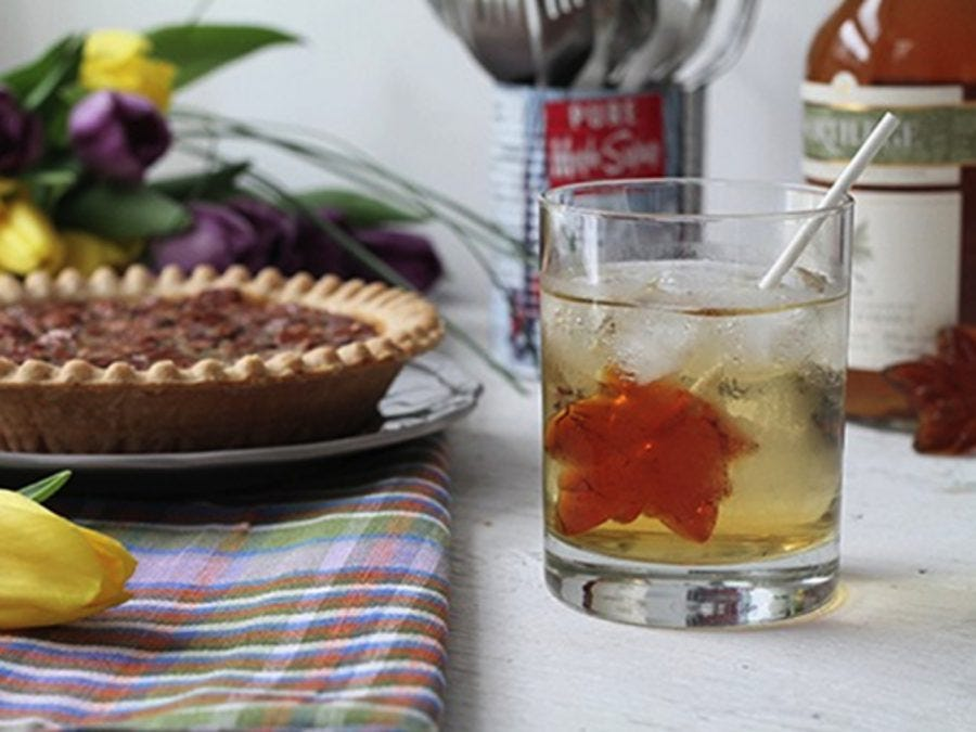 Maple Water cocktail, made with vodka and maple whisky liqueur.