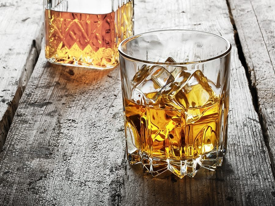 How can you chill whisky without diluting it?