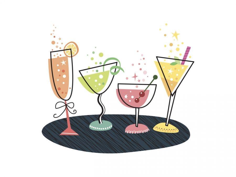 Bulles en cocktails