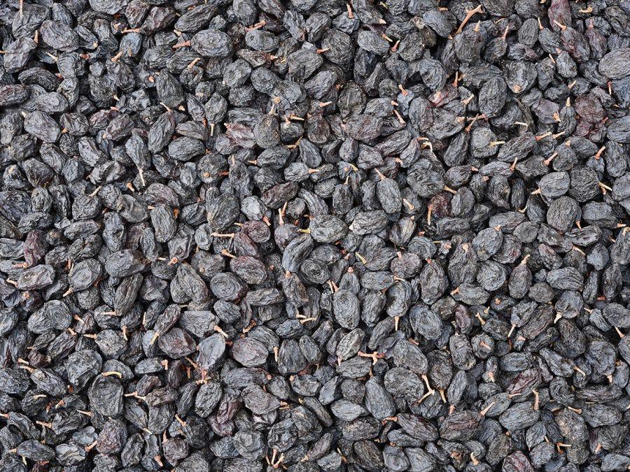 Grains de raisin en train de sécher