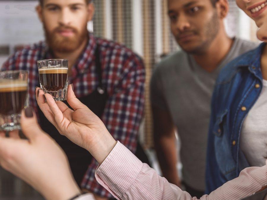 Dégustation de cafe