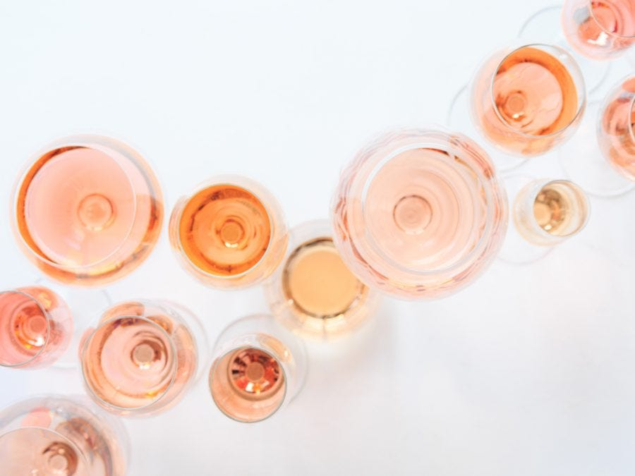 Glasses of rosés from Quebec