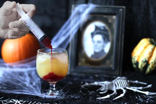 Préparation - Cocktail ensanglanté