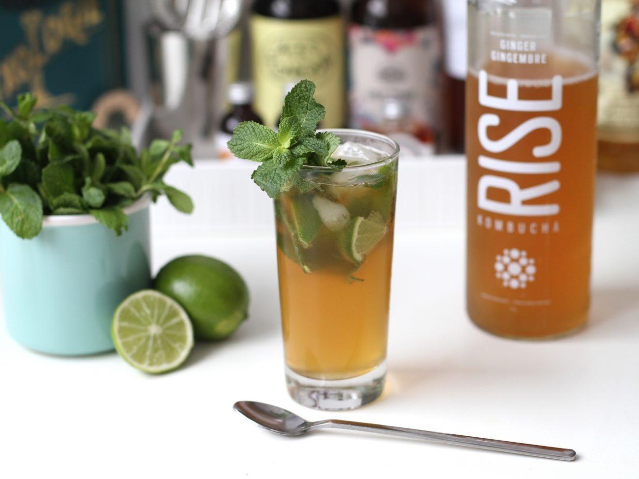 Cocktail Mojito léger au kombucha
