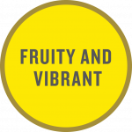 """fruity and vibrant"" taste tag"
