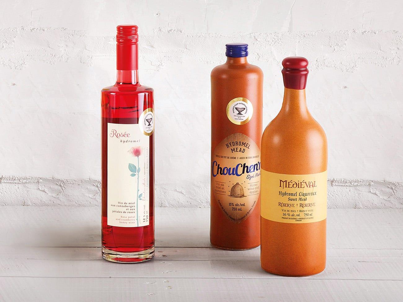 bouteille rosé et hydromel