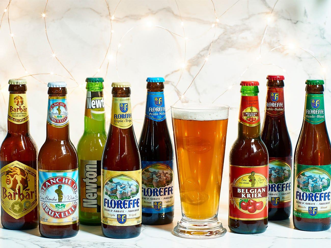 Coffret contenant 8 bouteilles de bières différentes