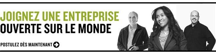 Joignez une entreprise ouverte sur le monde