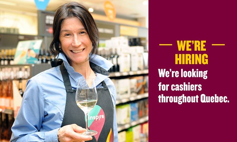 SAQ is hiring: We are looking for cashiers throughout Quebec.