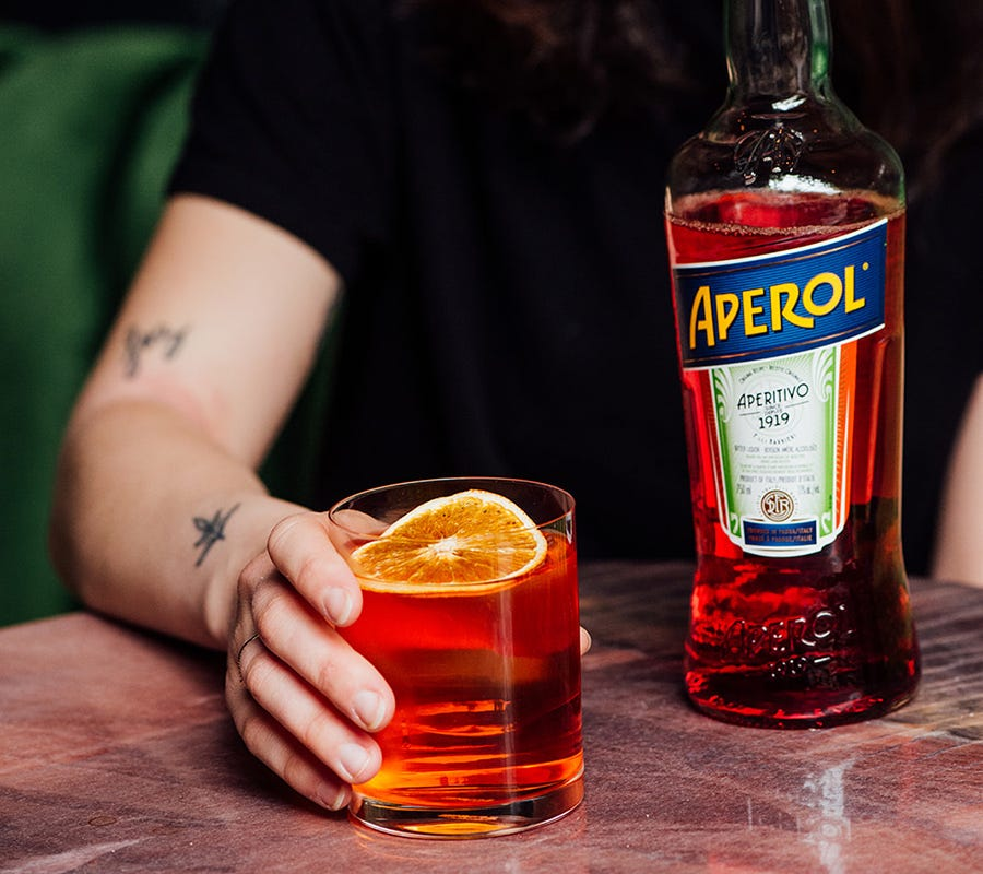 This link opens the Aperol product page.