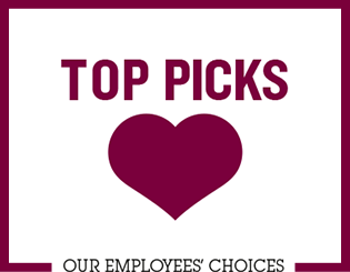Logo Top Picks products. Our employees choices.