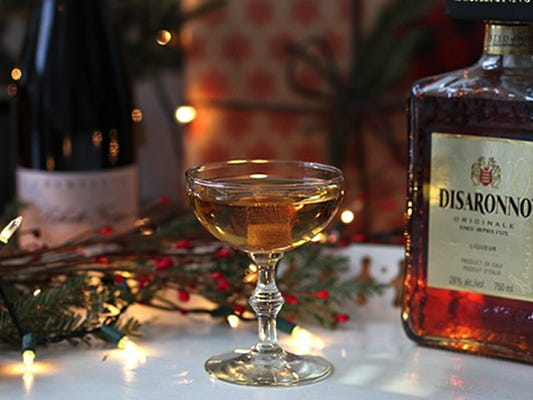 Holiday bubbles cocktail