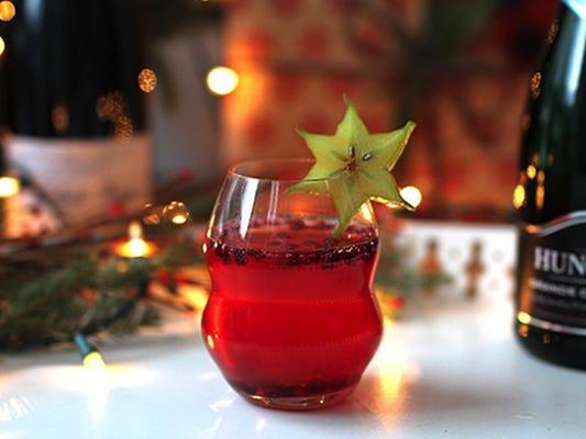 Christmas star cocktail