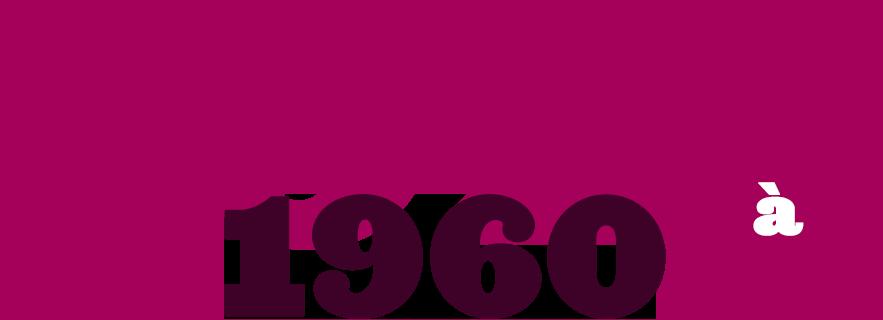 1921 à 1960