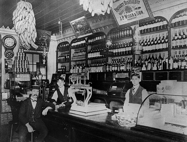 Épicerie Birs à Longueuil, datant de 1900.