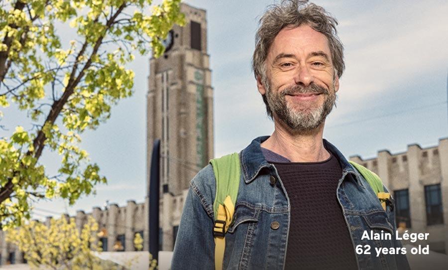 Alain Léger, 62 years old.