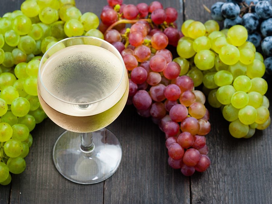 Different wine grapes