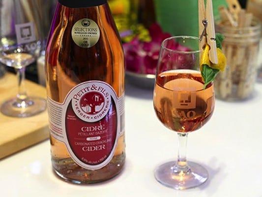 cidre mousseux rosé Vergers Petit et Fils