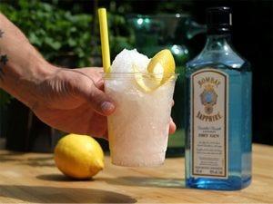 Frozen gin & tonic slushtail