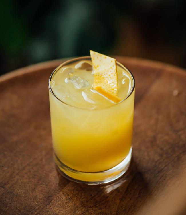 Cocktail splash orangé