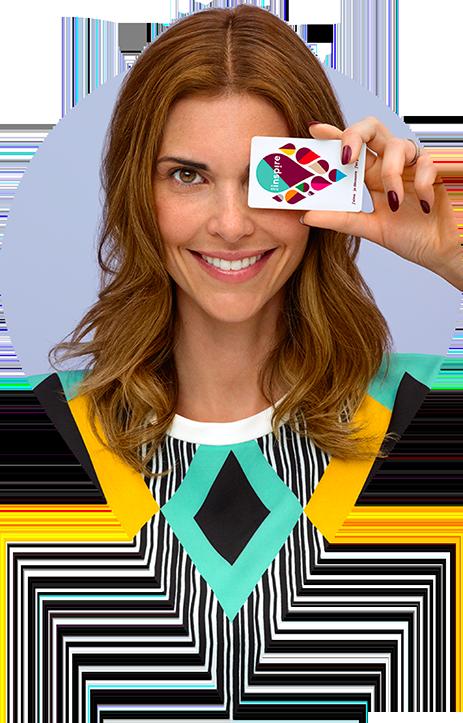 Image femme avec carte Inspire