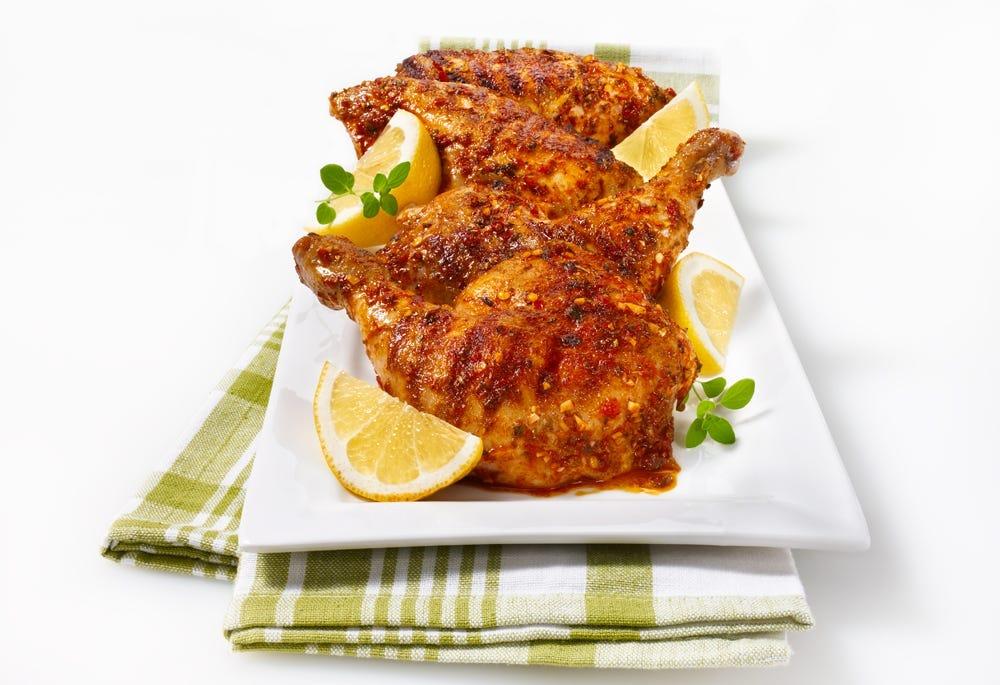 Poulet piri-piri au barbecue