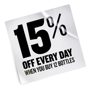 15% Off every day when you buy 12 bottles