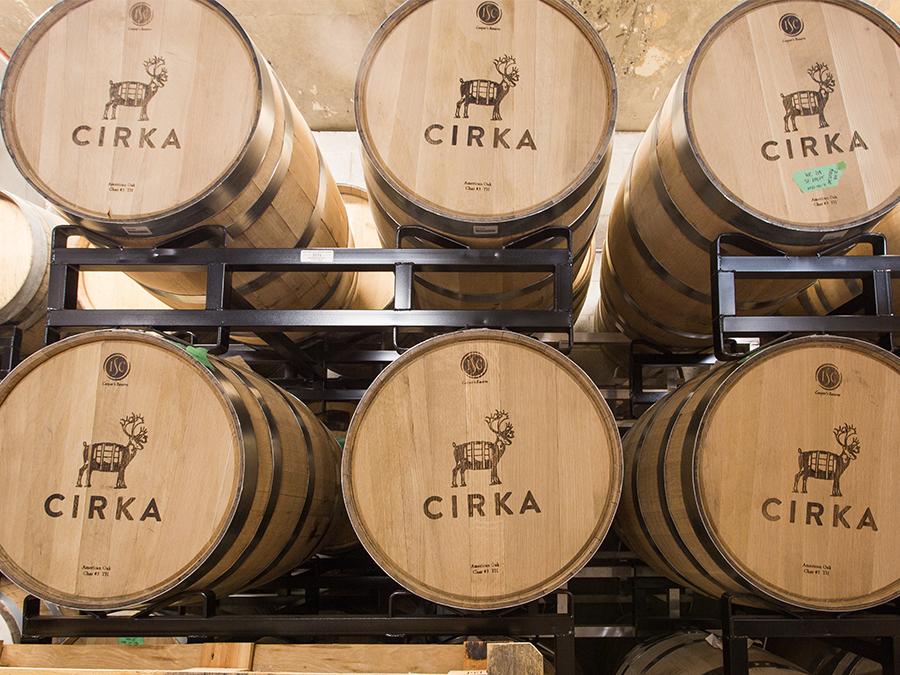 Cirka Distilleries barrels