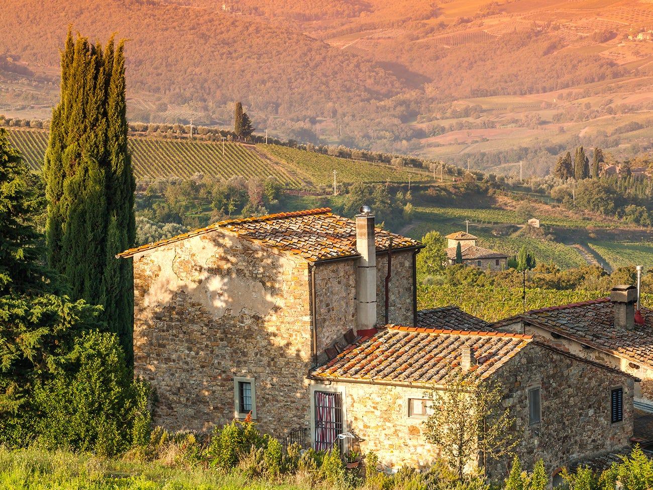 Domaine viticole de Toscane