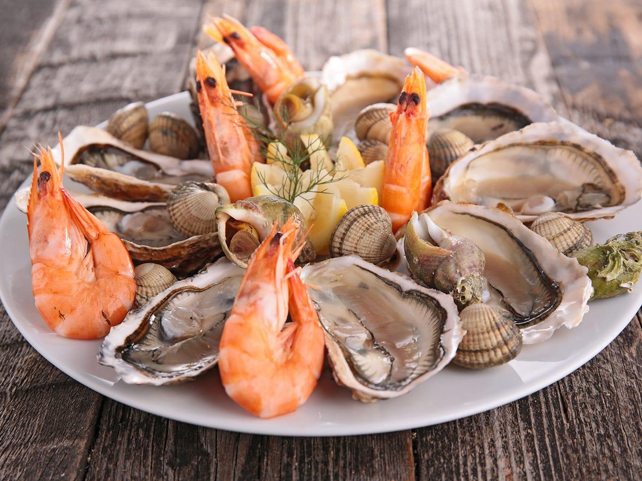 coquillages et aux crustacés