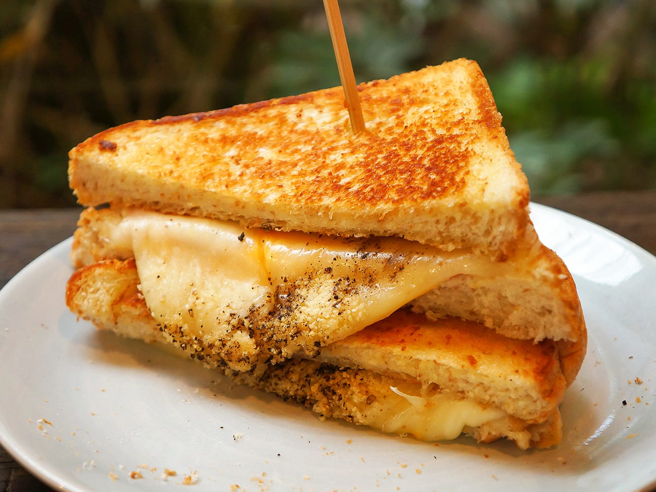Grilled cheese et vin blanc
