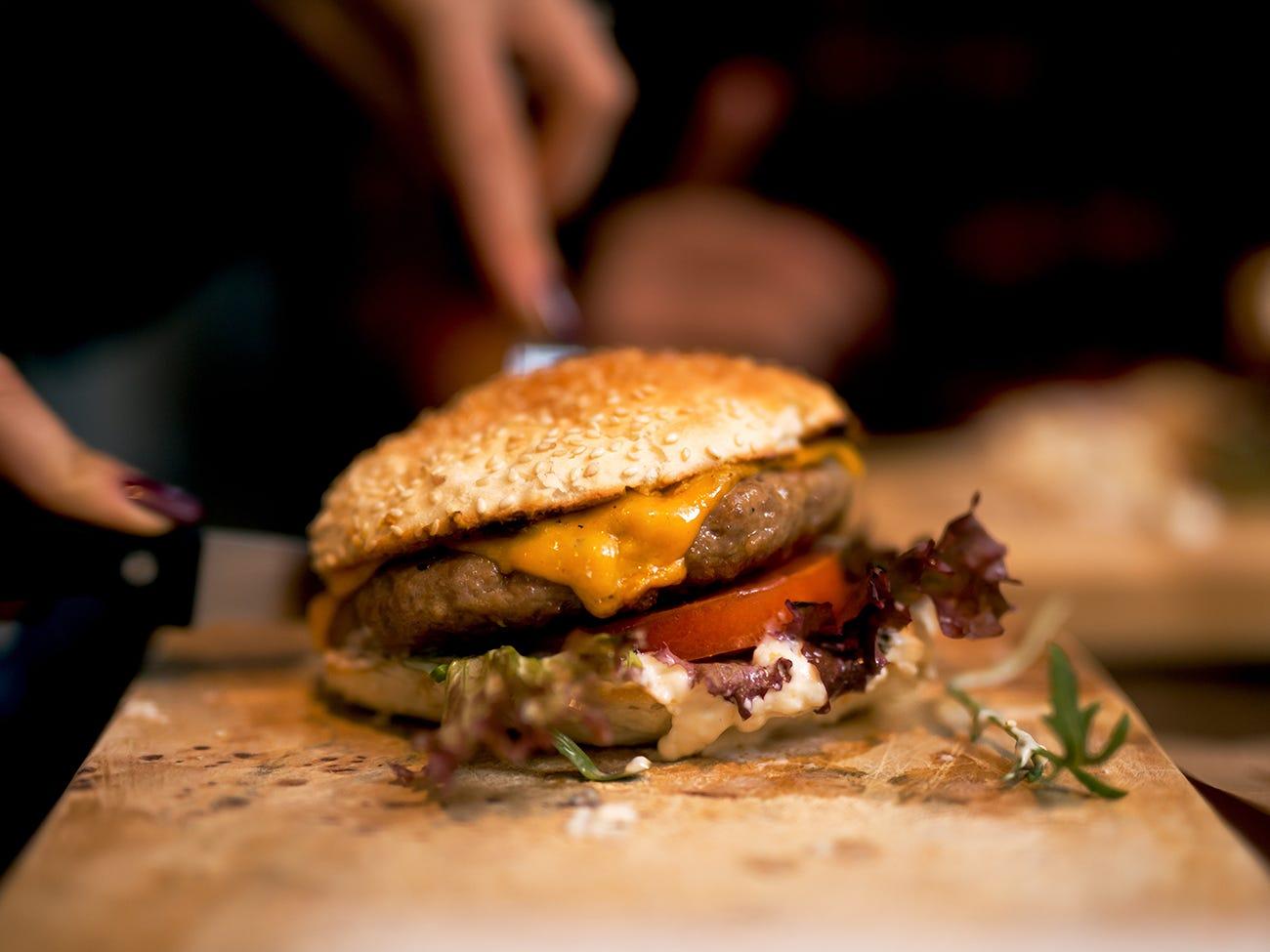 hamburger de BBQ gastronomique
