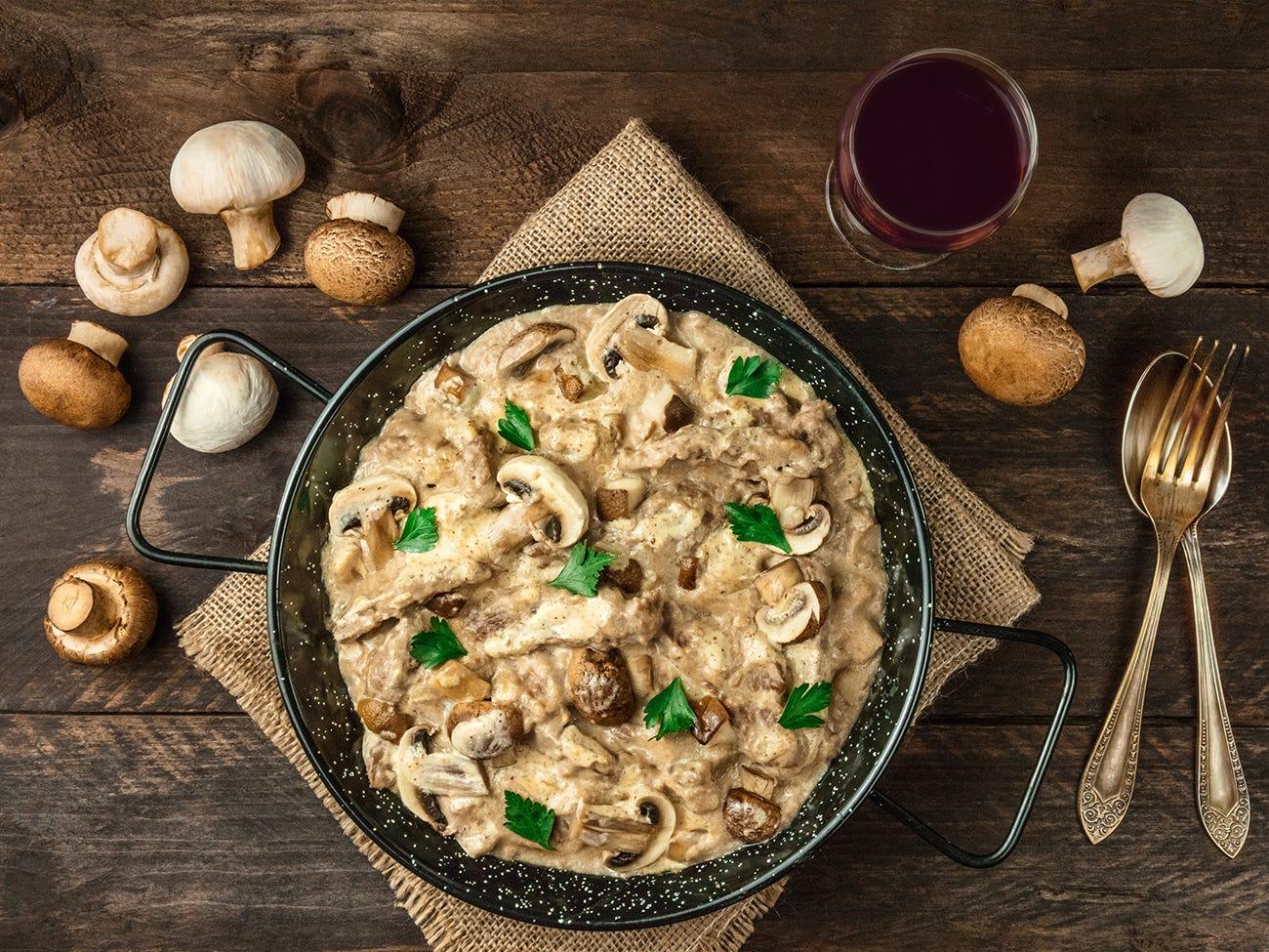 plat de champignons