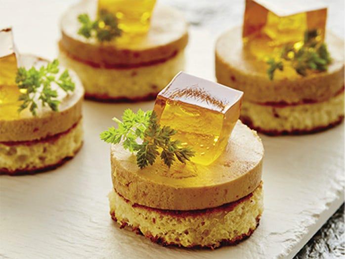 Recette: Foie gras sur pain brioché, gelée de vin Vendange tardive