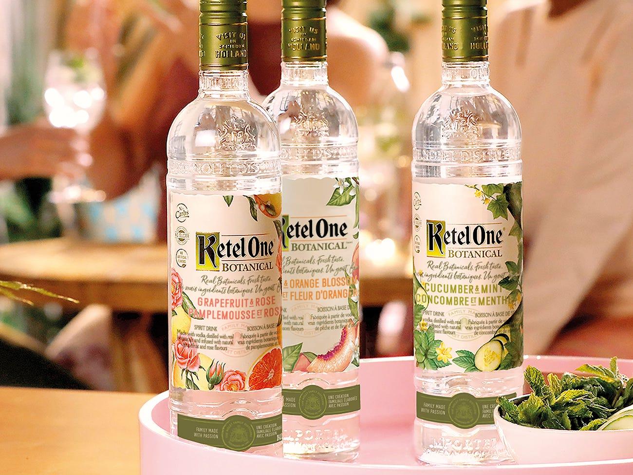 3 bouteilles de Ketel One Botanical